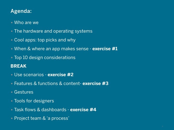 Agenda:• Who are we• The hardware and operating systems• Cool apps: top picks and why• When & where an app makes sense - e...