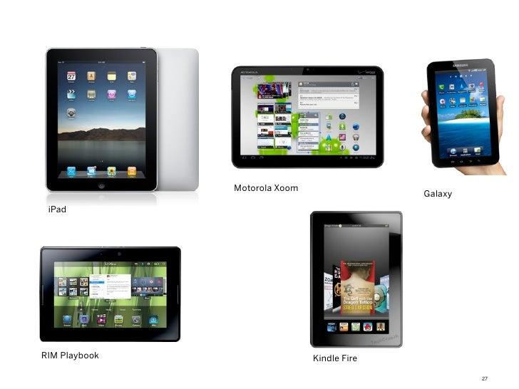 Motorola Xoom                                             Galaxy iPadRIM Playbook                   Kindle Fire           ...