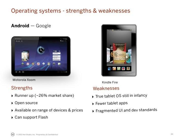Operating systems - strengths & weaknessesAndroid — GoogleMotorola Xoom                                                   ...