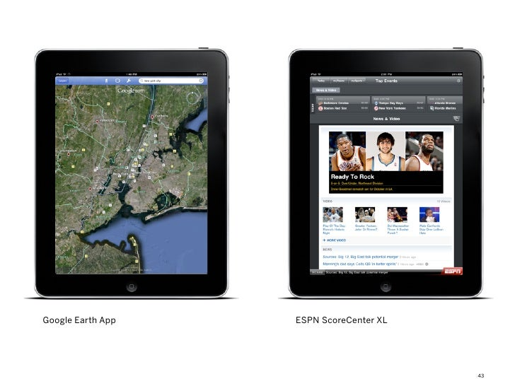 Google Earth App   ESPN ScoreCenter XL                                         43