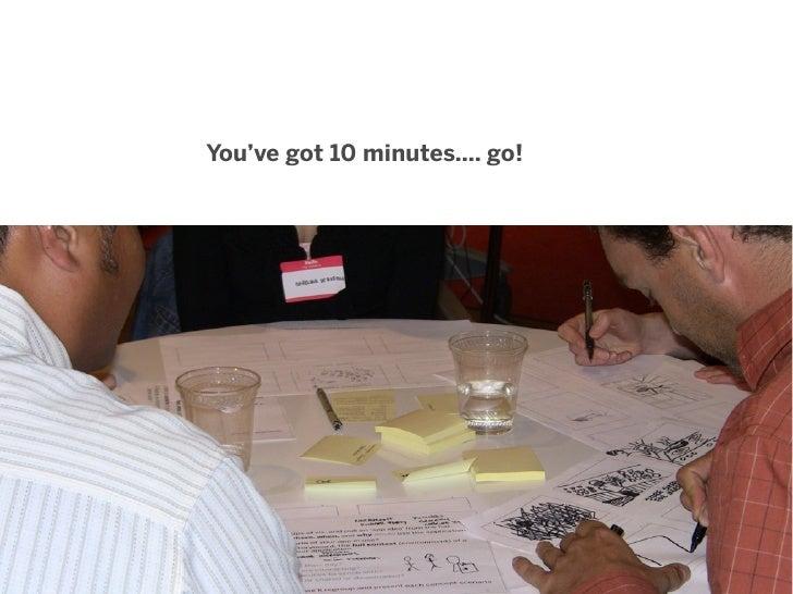 You've got 10 minutes.... go!                                77