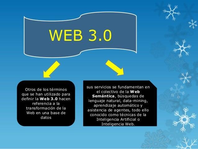 WEB 3.0                            sus servicios se fundamentan en  Otros de los términos           el colectivo de la Web...