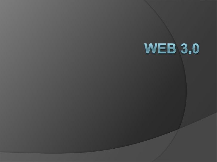 WEB 3.0<br />