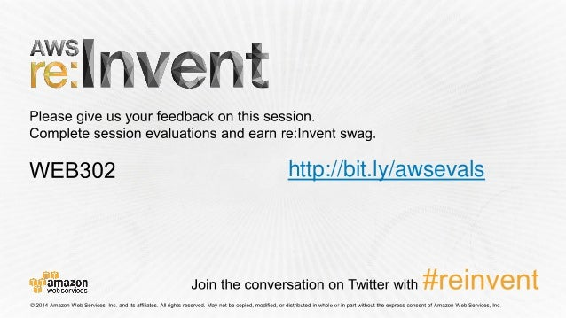 (WEB302) Best Practices for Running WordPress on AWS - AWS re:Invent … slideshare - 웹