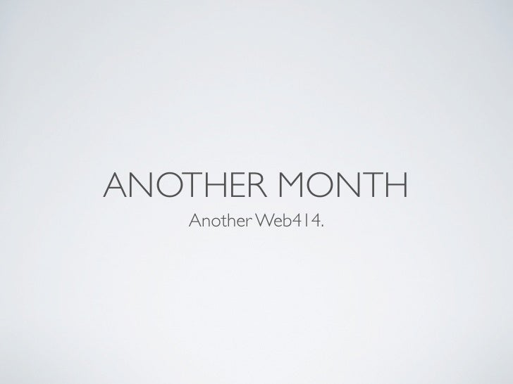 ANOTHER MONTH    Another Web414.