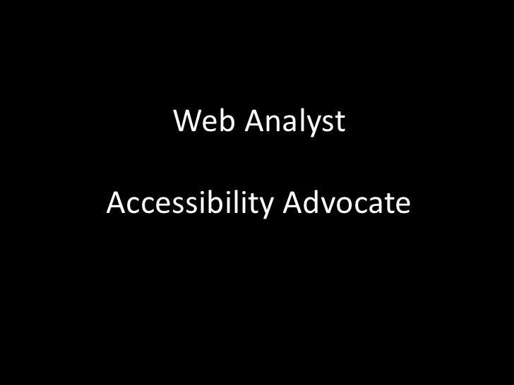 Web accessibility 2010 v2 Slide 2
