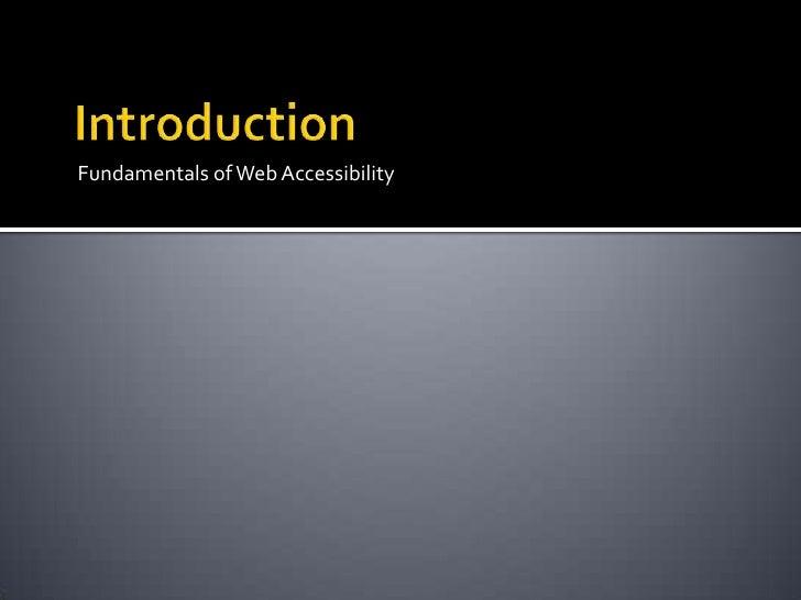 Web accessibility 2010 v2 Slide 3