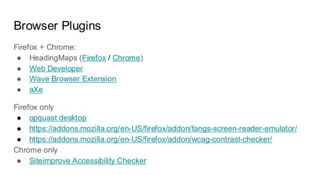 Web Accessibility for Web Developers