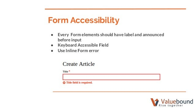 Web accessibility in drupal 8