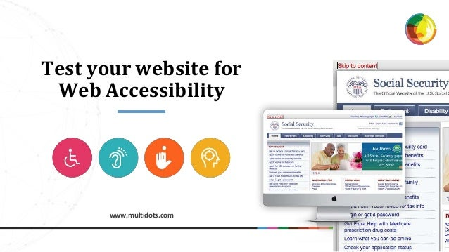 www.multidots.com Test your website for Web Accessibility