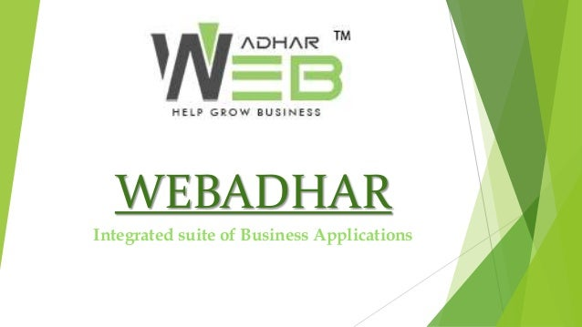 WEBADHAR Integrated suite of Business Applications