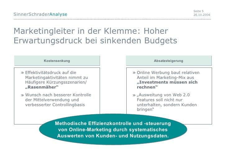 Marketingleiter in der Klemme: Hoher Erwartungsdruck bei sinkenden Budgets <ul><ul><li>Effektivitätsdruck auf die Marketin...