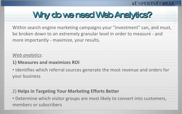 <ul><li>Within search engine marketing campaigns your &quot;investment&quot; can, and must, be broken down to an extremely...