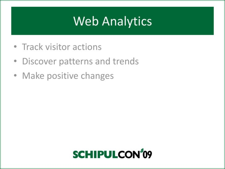 Web Analytics: Insights into Numbers is Exciting! Slide 3