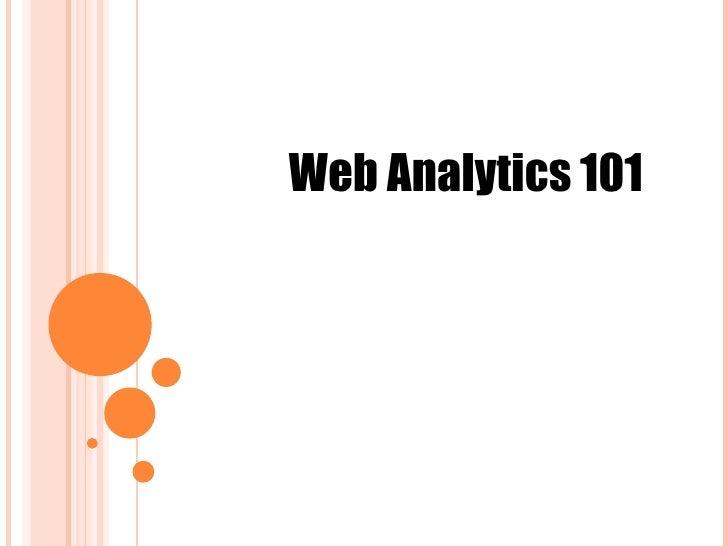 Web Analytics 101