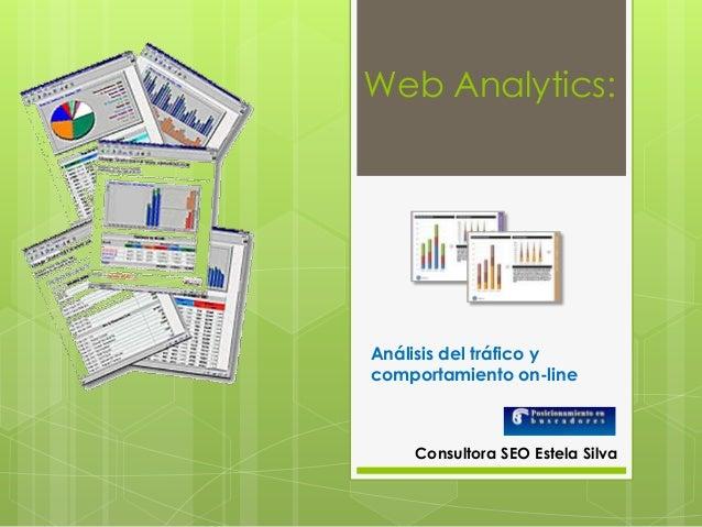 Web Analytics: Análisis del tráfico y comportamiento on-line Consultora SEO Estela Silva