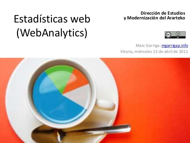 Estadísticas web (WebAnalytics)<br />Dirección de Estudios <br />y Modernización del Ararteko<br />Marc Garriga: mgarrigap...