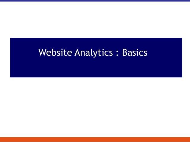 Website Analytics : Basics