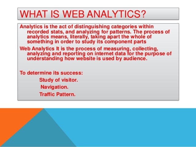 what are web analytics