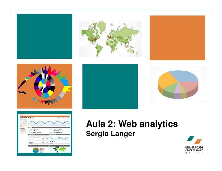 Aula 2: Web analytics Sergio Langer