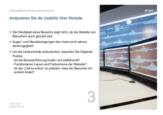 6 Erfolgsfaktoren für eine optimale Analyse  Analysieren Sie die Usability Ihrer Website  ! Die Häufigkeit eines Besuchs ...