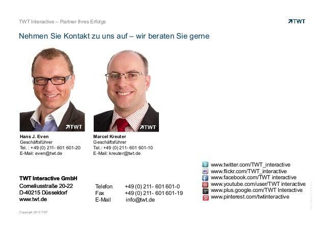 TWT Interactive – Partner Ihres Erfolgs  Nehmen Sie Kontakt zu uns auf – wir beraten Sie gerne  TWT Interactive GmbH Corne...
