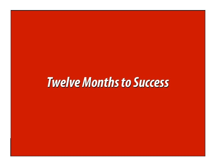 Twelve Months to Success      WebAnalyticsDemysti    ed WebAnalyticsDemysti ed         www.webanalyticsdemysti ed.com     ...
