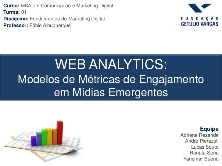 Curso: MBA em Comunicação e Marketing DigitalTurma: 01Disciplina: Fundamentos do Marketing DigitalProfessor: Fábio Albuque...
