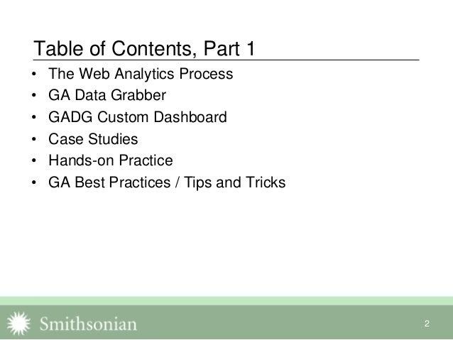 Cut Through the Web Analytics Fog: Using GA Data Grabber to Act on Google Analytics Data Slide 2
