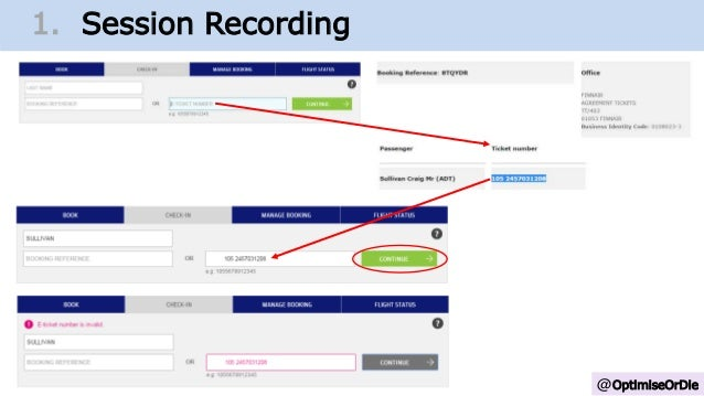 @OptimiseOrDie 1. Change Growth Trajectory1. Session Recording