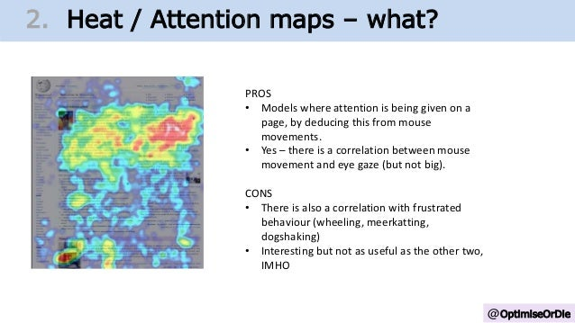 @OptimiseOrDie 1. Change Growth Trajectory2. Heat / Attention maps – what? PROS • Models where attention is being given on...