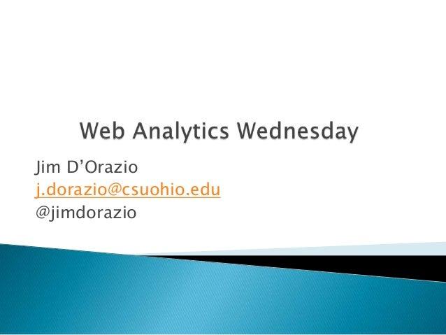 Jim D'Orazio j.dorazio@csuohio.edu @jimdorazio