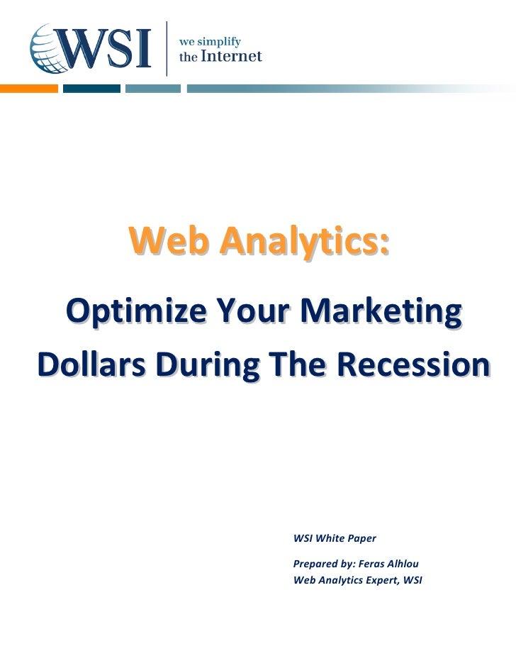 Web Analytics:               A       OptimizeYou...