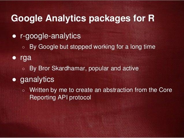 ganalytics Automate extraction of Google Analytics data