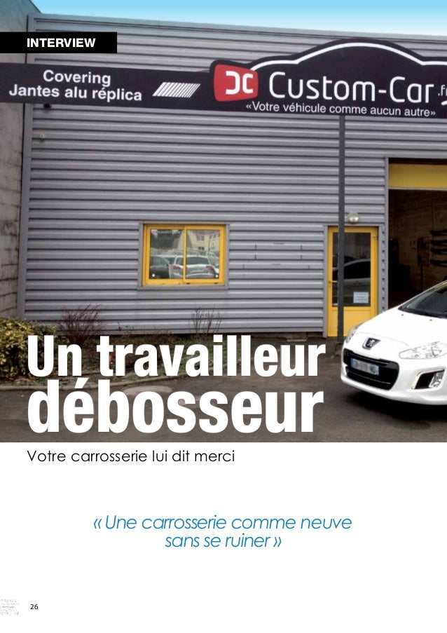 Paul Hubert, le jeune gérant du centre Custom Car des  Ponts de Cé, dynamise son activité avec l'embauche  d'un nouveau sp...