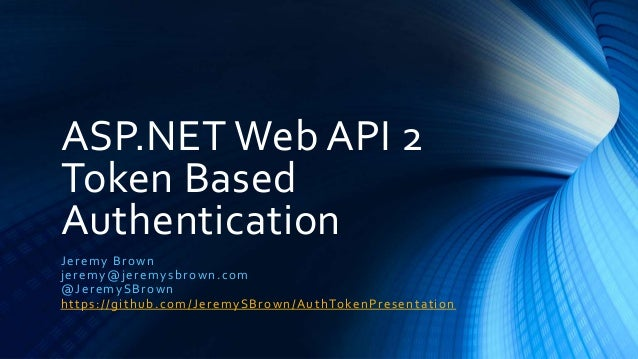 web api authentication tutorial