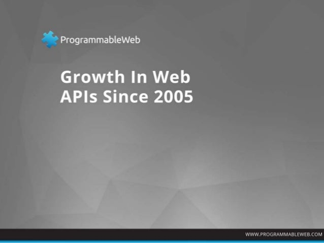 Chart of Web API Growth From 2005 Through 2013 (Source: ProgrammableWeb.com)