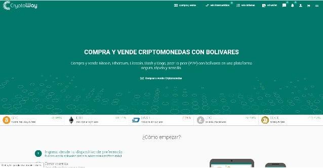 CryptoWay - Compra y vende Criptomonedas con bolívares  (Aplicación Web)