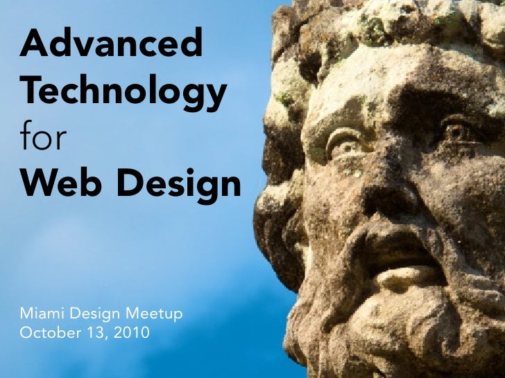 Advanced Technology for Web Application Design