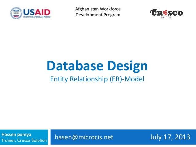 hasen@microcis.net July 17, 2013Hassen poreya Trainer, Cresco Solution Afghanistan Workforce Development Program Database ...