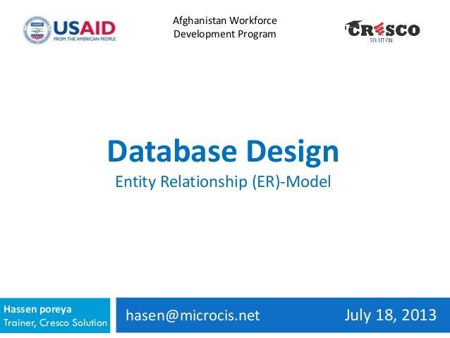 hasen@microcis.net July 18, 2013Hassen poreya Trainer, Cresco Solution Afghanistan Workforce Development Program Database ...
