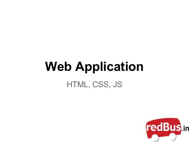 Web ApplicationHTML, CSS, JS
