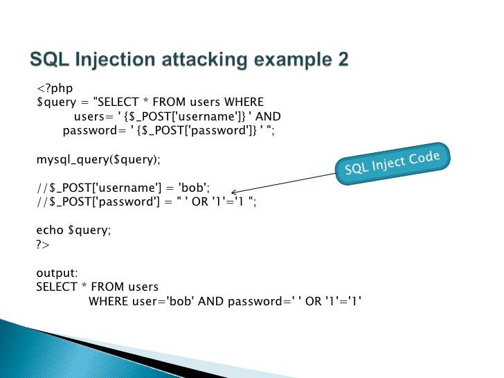 practical identification of sql injection vulnerabilities A practical approach to  the first step in the identification of attack points is designating trust boundaries  sql injection, or cross-site.