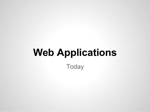 Web ApplicationsToday