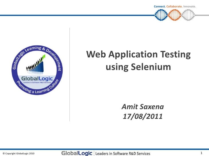 Connect. Collaborate. Innovate.                               Web Application Testing                                  usi...