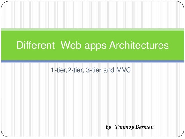 1-tier,2-tier, 3-tier and MVC Different Web apps Architectures by Tanmoy Barman
