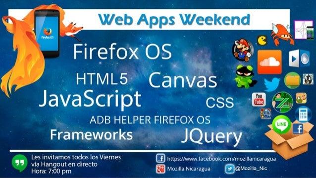 Firefox OS Apps Oscar Martin Cortez