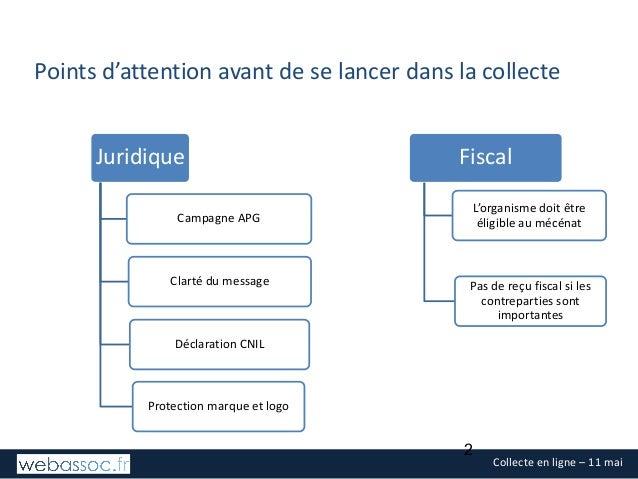 Les fondamentaux juridiques et fiscaux de la collecte - mai 2017 Slide 2