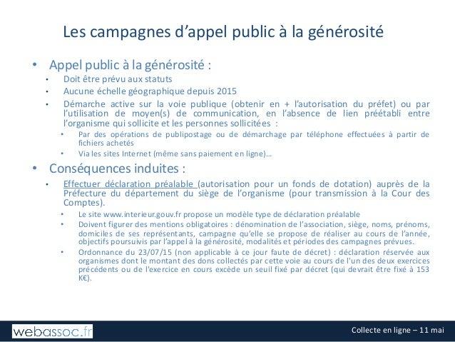 Les fondamentaux juridiques et fiscaux de la collecte - mai 2017 Slide 3