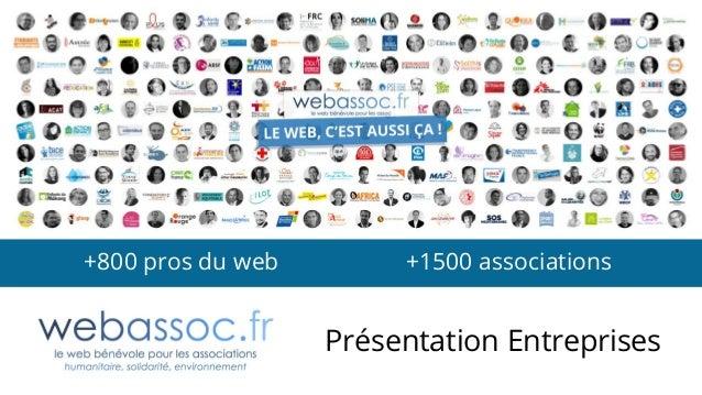 Présentation Entreprises +800 pros du web +1500 associations